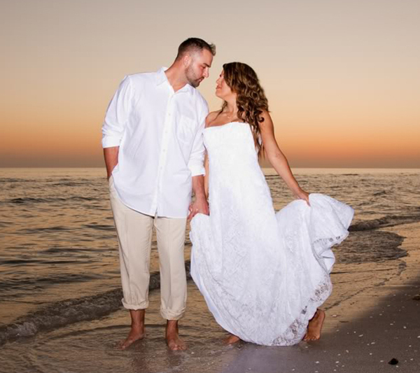 Bride And Groom Beach Wedding Dress
