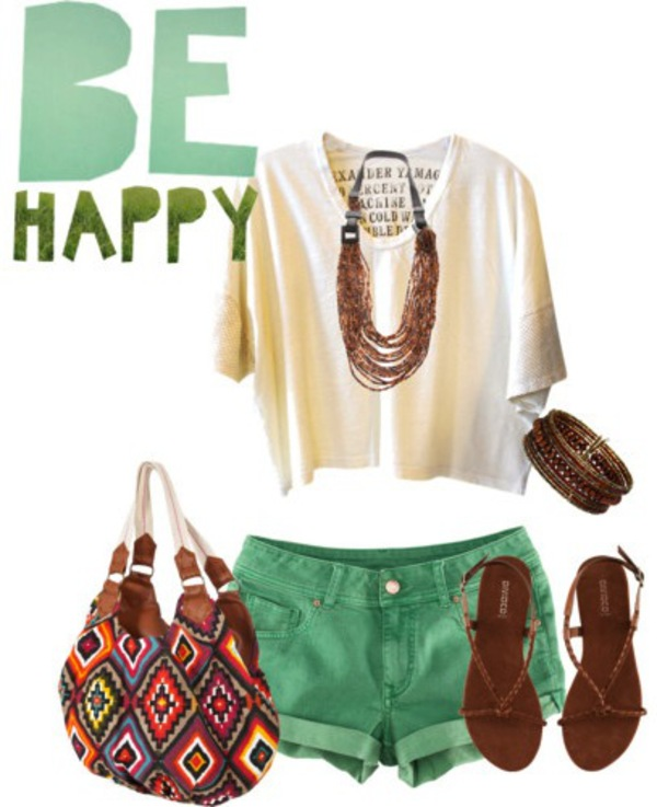 green shorts outfit ideas