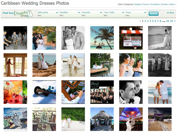 tropical wedding dress photos