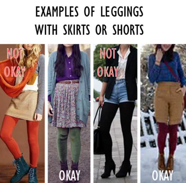 how to wear leggings at school