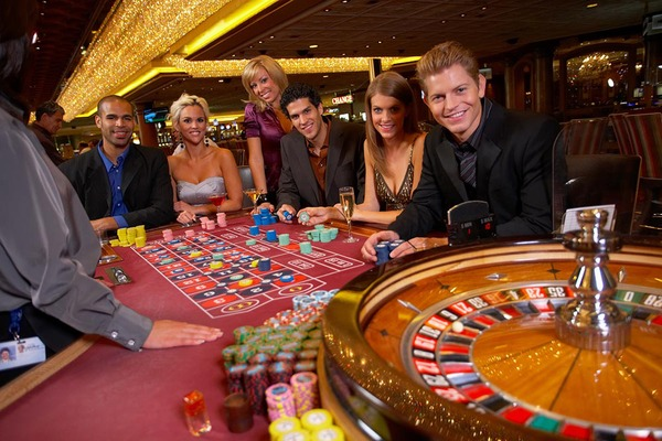 people playing roulette at the casino